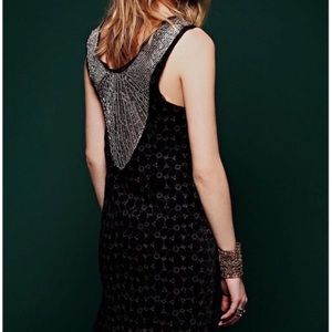Free People black beaded party dress